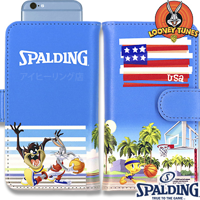 スポルディング バスケットボール 癒しのスマートフォンケース手帳型ルーニーテューンズ SPALDING11-002LT