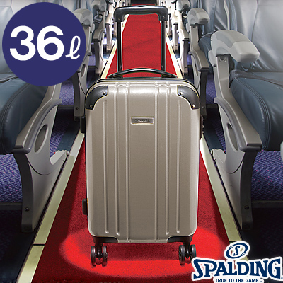 スポルディング ダブルホイールキャリー36L シャンパンゴールド 拡張ファスナー 軽量キャリーケース 機内持ち込み SP-0704-46 SPALDING