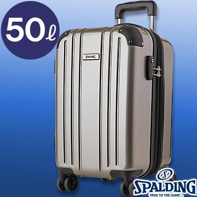 スポルディング ダブルホイールキャリー50L シャンパンゴールド 拡張ファスナー 軽量キャリーケース SP-0704-55 SPALDING