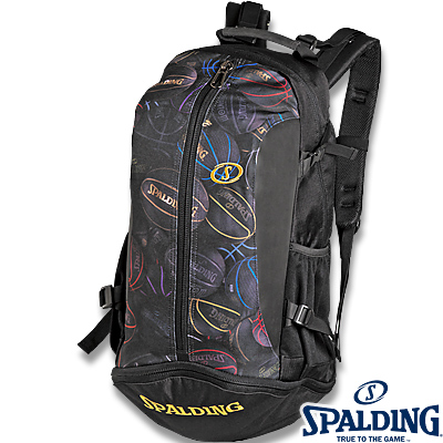 スポルディング ケイジャー ブラックボール バスケットボール収納バッグ SPALDING40-007BKB