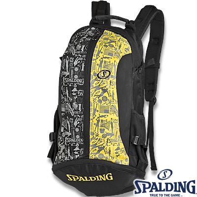スポルディング ケイジャー 壁画柄グラフィティ イエロー バスケットボール収納バッグ SPALDING40-007GYG