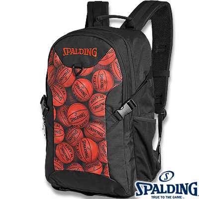 スポルディング フォスター ボールプリント ブラウン バスケットボール リュック バスケ収納バッグ SPALDING40-006BPB