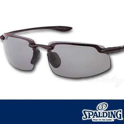 スポルディング サングラス ポリカーボネート偏光レンズ クリアブラウンCBR 軽量モデル SPALDING SPS17202W 日本製