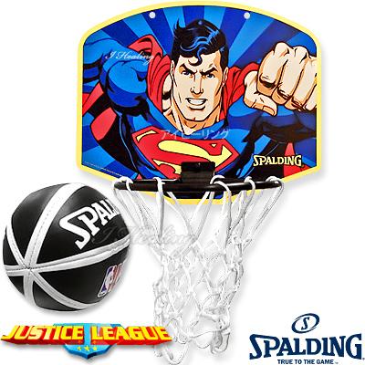 スポルディング ヒーロー スーパーマン バスケットボール ゴール マイクロミニ バックボードSPALDING5001SUPER