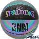 SPALDING IRIDESCENT バスケットボール7号 イリディセント 反射で光る玉虫色 合成皮革 スポルディング76-342J