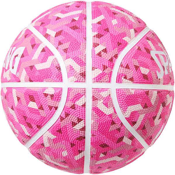 スポルディング 女性用 バスケットボール 6号 トパーズ ピンク ジオメトリック柄 バスケ 84-203J ゴム 外用ラバー SPALDING