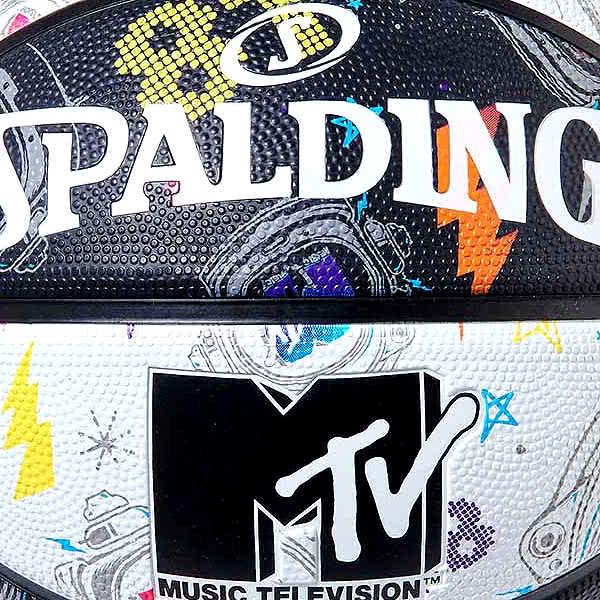 スポルディング ミニバス バスケットボール 5号 MTV 1981 スペーススーツ ブラック ホワイト バスケ 84-321J 小学校 子供用 ゴム 外用ラバー SPALDING 21SS