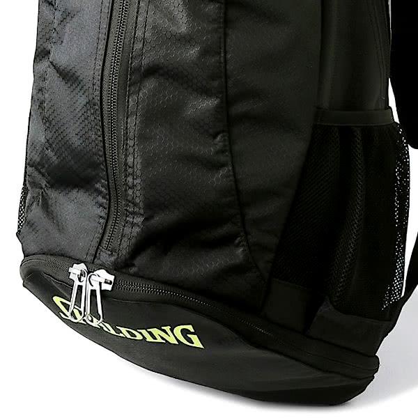 バスケットボール バッグ 軽量ケイジャーライト ライムグリーン 42-004LG バスケ リュック バックパック 32L スポルディング CAGER 21AW