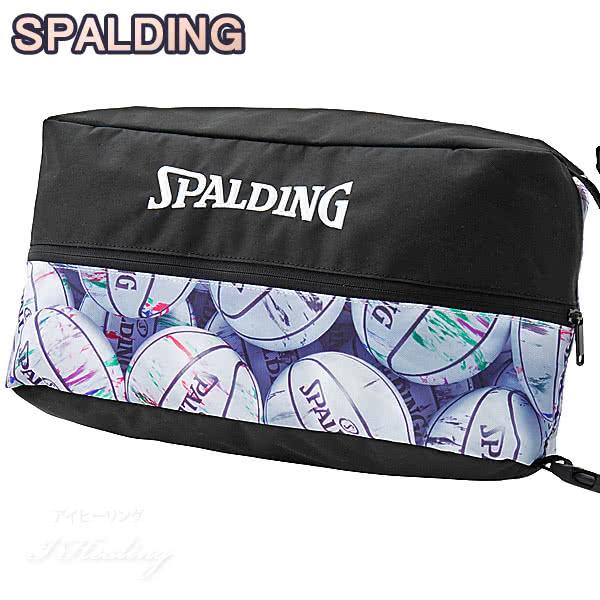 SPALDING バスケットボール シューズバッグ マーブルホワイト スポルディング 42-002MB