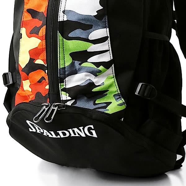 バスケットボール バッグ ケイジャー マルチカモ グリーン オレンジ 40-007MGO バスケ リュック バックパック 32L スポルディング CAGER 21AW
