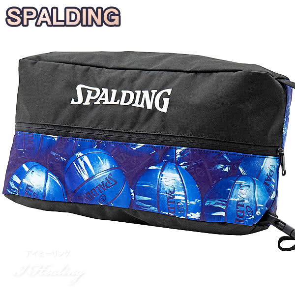 SPALDING バスケットボール シューズバッグ マーブルブルー スポルディング 42-002MBL