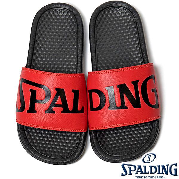SPALDING スポーツサンダル レディース レッド バスケットボール ビッグロゴ スポルディングSASH001W-RED