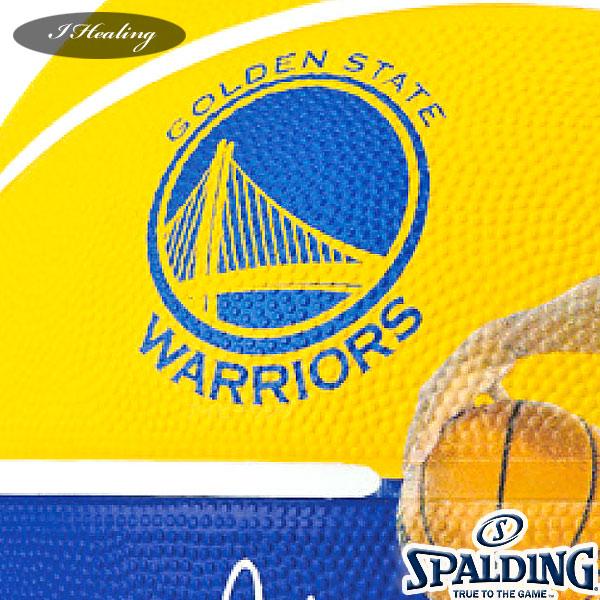 SPALDING バスケットボール7号 NBAステファン カリー選手プレイヤーボール ウォリアーズ ラバー スポルディング83-844Z