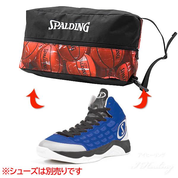 SPALDING バスケットボール シューズバッグ マーブルレッド スポルディング 42-002MRD