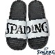 SPALDING スポーツサンダル レディース ホワイト バスケットボール ビッグロゴ スポルディングSASH001W-WHITE