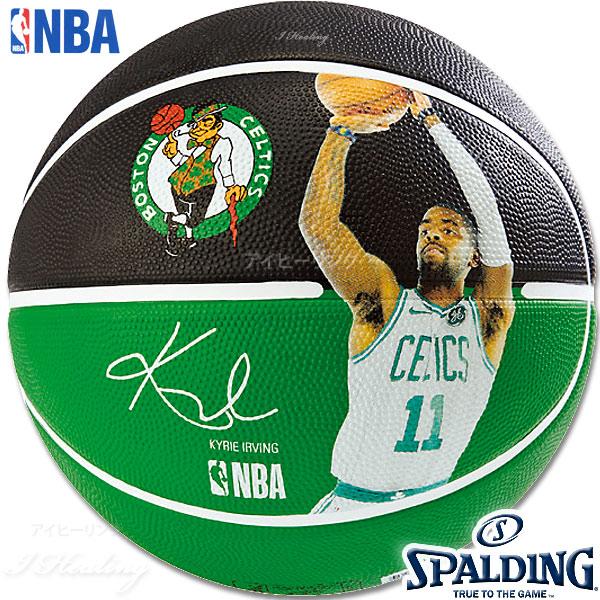 SPALDING バスケットボール7号 NBAカイリー アービング選手プレイヤーボール セルティックス ラバー スポルディング83-847Z