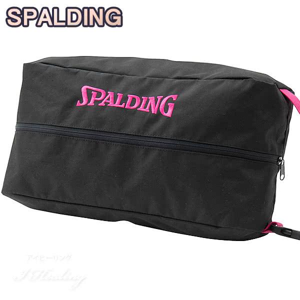 SPALDING バスケットボール シューズバッグ ピンクテープ スポルディング 42-002PKT