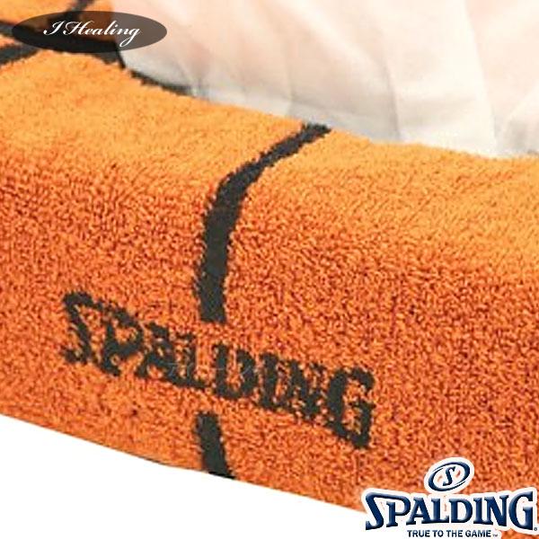 SPALDING ティッシュケース バスケットボール柄タオル 綿 グッズ スポルディング39-002 日本製