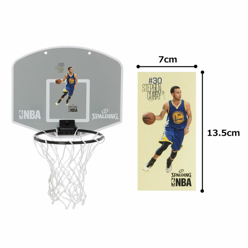 スポルディング 選手シール付NBAバスケットゴール 壁掛け室内用 ミニビニールボールセット 77-644Z