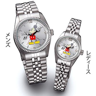 ミッキー85周年記念 天然ダイヤモンド腕時計 シルバー