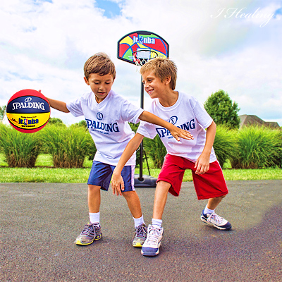 SPALDINGジュニアNBA 小学生 子供用 外用バスケットボール5号 ラバー スポルディング83-279J