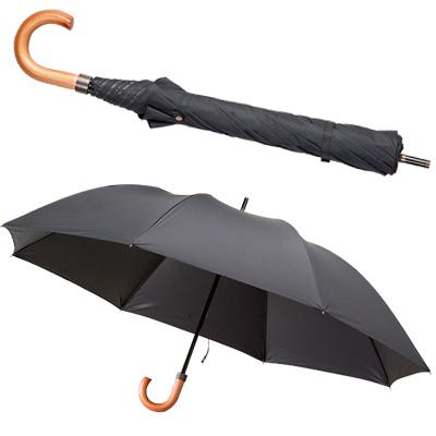 大きい折りたたみ傘 ショートワイドタイプ男性用 黒