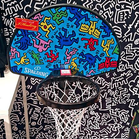 キースヘリング子供用ユースワンオンワン バスケットボール ゴール スポルディング5H884JP