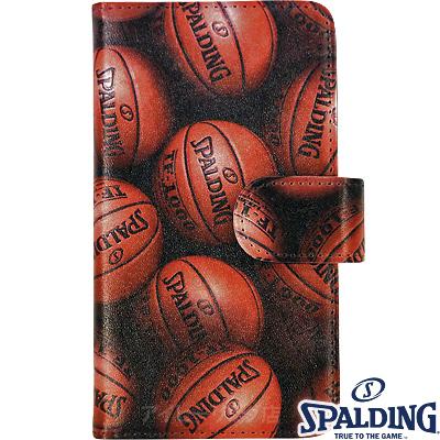 スポルディング バスケットボール スマートフォンケース手帳型アルティメイト ブラウン SPALDING11-002BR