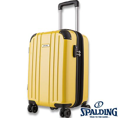 スポルディング ダブルホイールキャリー50L イエロー 拡張ファスナー 軽量キャリーケース SP-0704-55 SPALDING