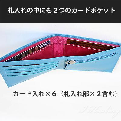 FRUH 薄型スマート スリムウォレット 二つ折り財布 ネイビー フリュー GL012L-NAVY 日本製