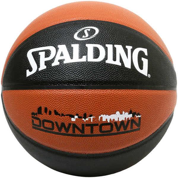 スポルディング バスケットボール 7号 ダウンタウン ブラウン ブラック バスケ 76-715J 合成皮革 SPALDING