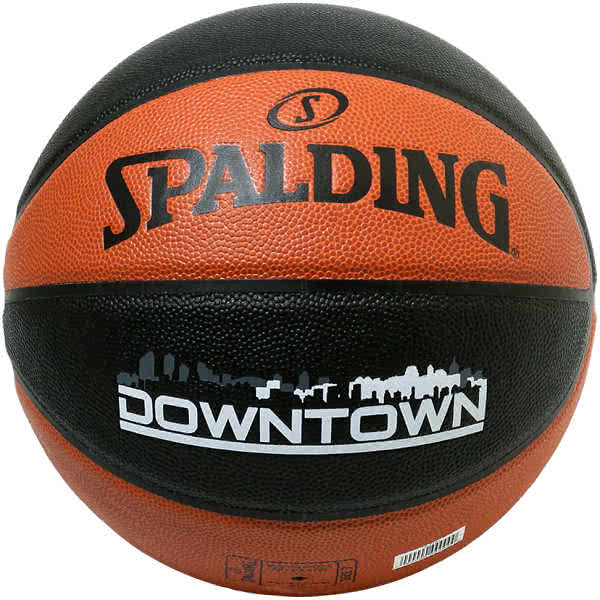 スポルディング ミニバス バスケットボール 5号 ダウンタウン ブラウン ブラック バスケ 76-714J 小学校 子供用 合成皮革 SPALDING
