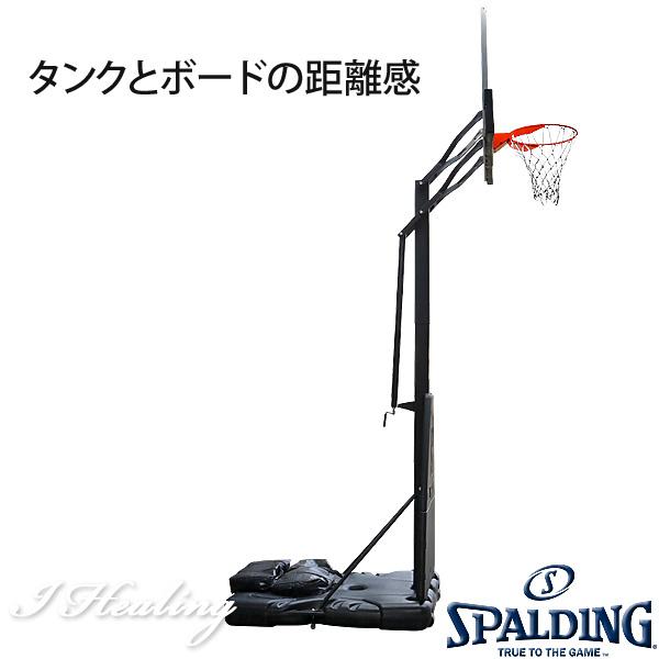 NBA公認バスケットゴール バックボード スポルディング プラチナム ポータブル PLATINUM PORTABLE 家庭用 屋外 バスケ練習 お客さま組立 SPALDING 68490JP