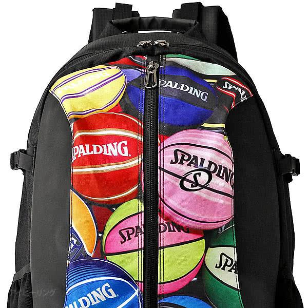 スポルディング バスケ バッグ ジャイアントケイジャー ボールプリントマルチ 41-010BPM バスケットボール リュック バックパック 46L SPALDING CAGER
