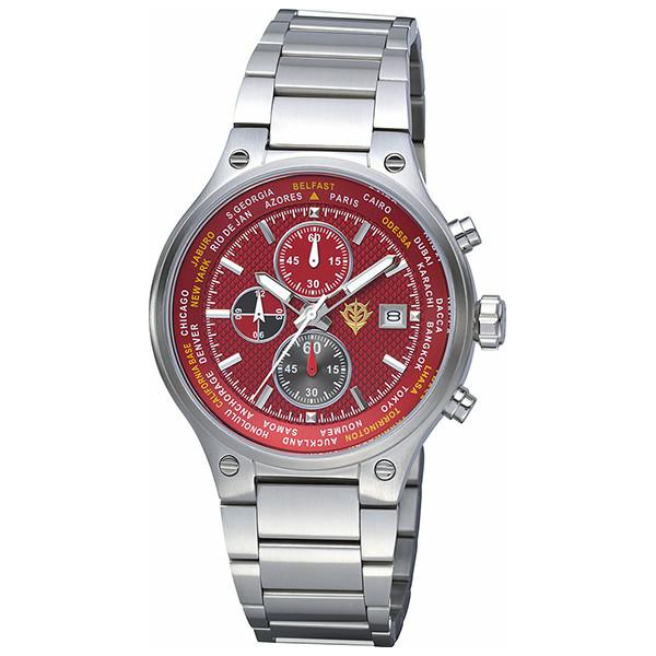 ガンダムオフィシャルウォッチ 赤い彗星モデル シャア アズナブル腕時計 9ZR002MG01