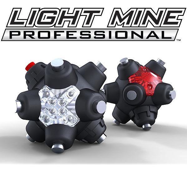 STRIKER 強力ネオジム磁石ハンズフリーライト マインプロフェッショナルLED 9cm 64ルーメン 連続24時間点灯 単4乾電池3本