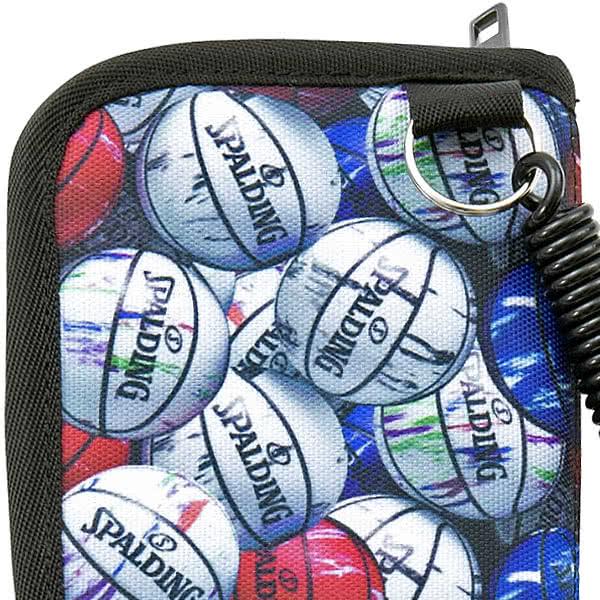 SPALDING バスケットボール キディ ウォレット マーブル ファスナー財布 ストラップ付 スポルディング 50-007MB