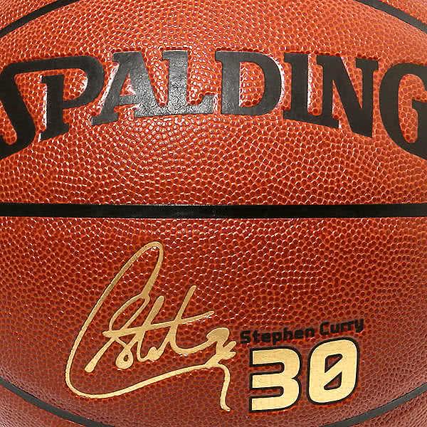 スポルディング バスケットボール 7号 ステフィン カリー コンポジット ウォリアーズ ブラウン バスケ 74-645Z 合成皮革 SPALDING