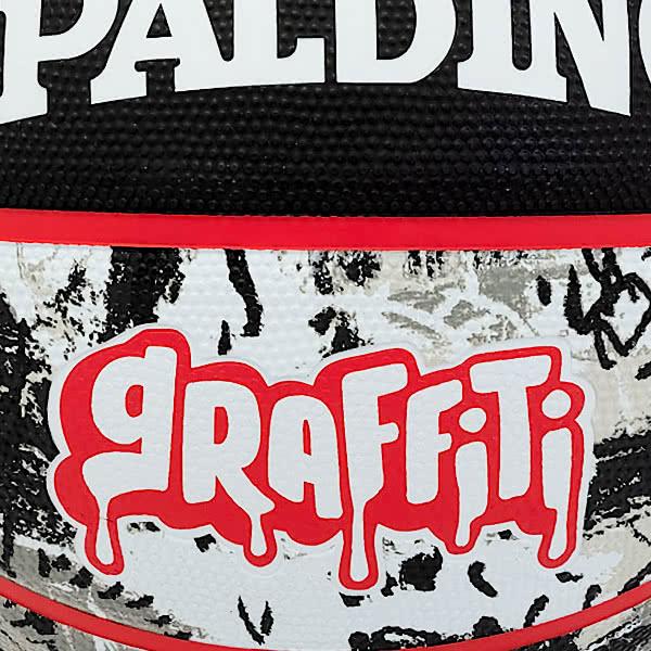 スポルディング 女性用 バスケットボール 6号 グラフィティ ブラック レッド バスケ 84-532J ゴム 外用ラバー SPALDING 21AW2