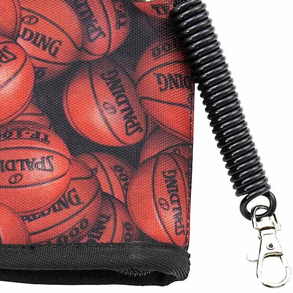 SPALDING バスケットボール キディ ウォレット ブラウン ファスナー財布 ストラップ付 スポルディング 50-007BB
