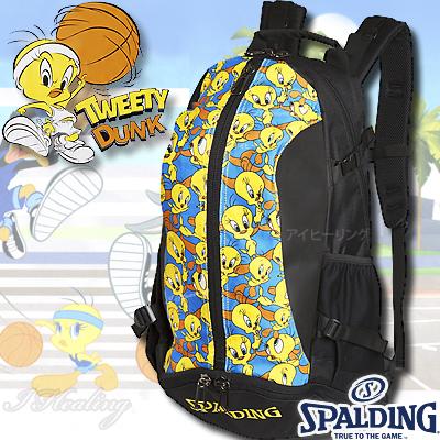 スポルディング ケイジャー トゥイーティー ルーニーテューンズ バスケットボール収納バッグ SPALDING40-007TW
