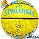 SPALDING ミニバス バスケットボール5号 トゥイーティー ルーニーテューンズ イエロー 小学校 子供用 ラバー スポルディング83-797J