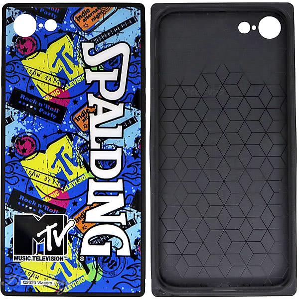 スポルディング バスケ iPhoneケース 6 7 8用 スクエアガラス MTVギター 11-010GU 軽量アイフォンケース SPALDING
