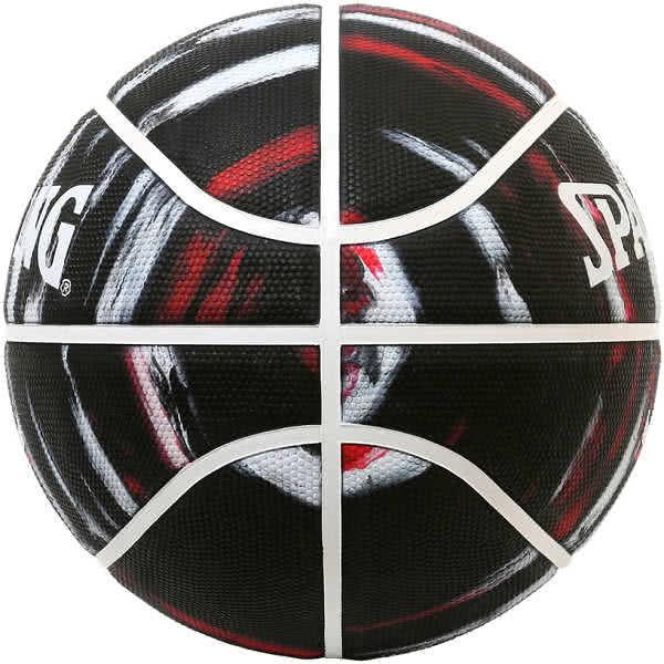 スポルディング バスケットボール 7号 シカゴ ブルズ マーブル ブラック バスケ 84-201J ゴム 外用ラバー SPALDING