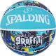 スポルディング 女性用 バスケットボール 6号 グラフィティ ブルー バスケ 84-529J ゴム 外用ラバー SPALDING 21AW2