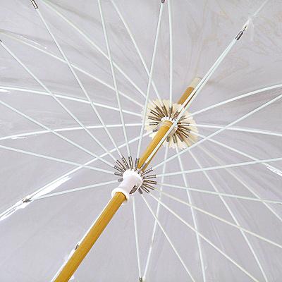 雨傘 十六夜 いざよいビニール傘 ベージュ婦人傘 ホワイトローズ 日本製