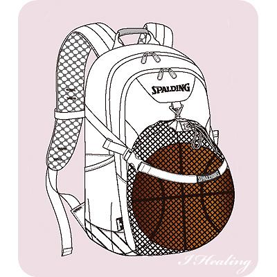 スポルディング フォスター ライムグリーン バスケットボール リュック バスケ収納カバン SPALDING40-006LG