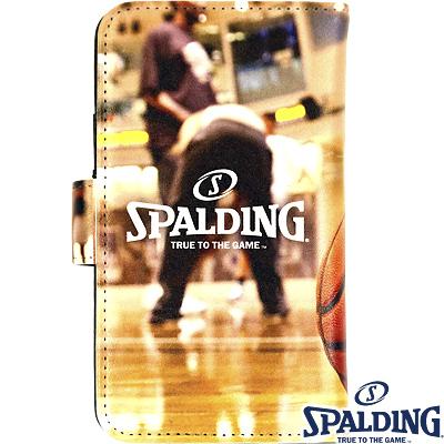 スポルディング バスケットボール スマートフォンケース手帳型フェイム SPALDING11-002HF