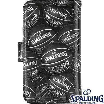 スポルディング バスケットボール スマートフォンケース手帳型アルティメイト ブラック SPALDING11-002BK