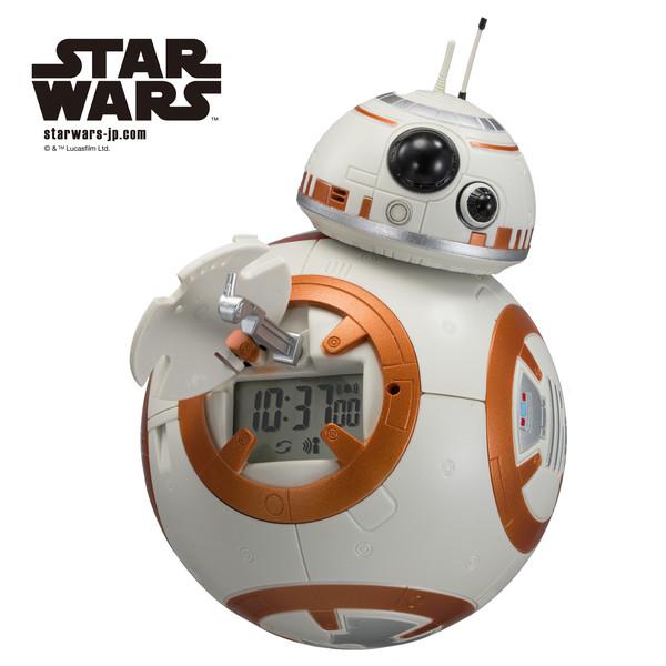 BB-8 アクションクロック 音声 目覚し時計 8RDA74MC03 STAR WARS リズム時計